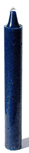 Blue Taper Candle