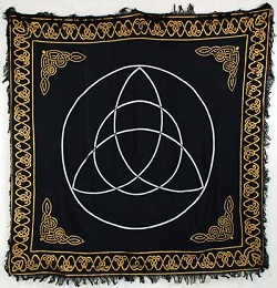 Gold Bordered Triquetra Altar Cloth