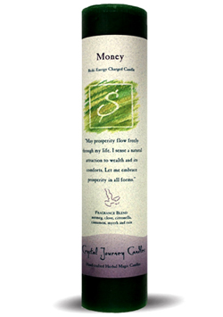 Money Ritual Candle 7 Inch